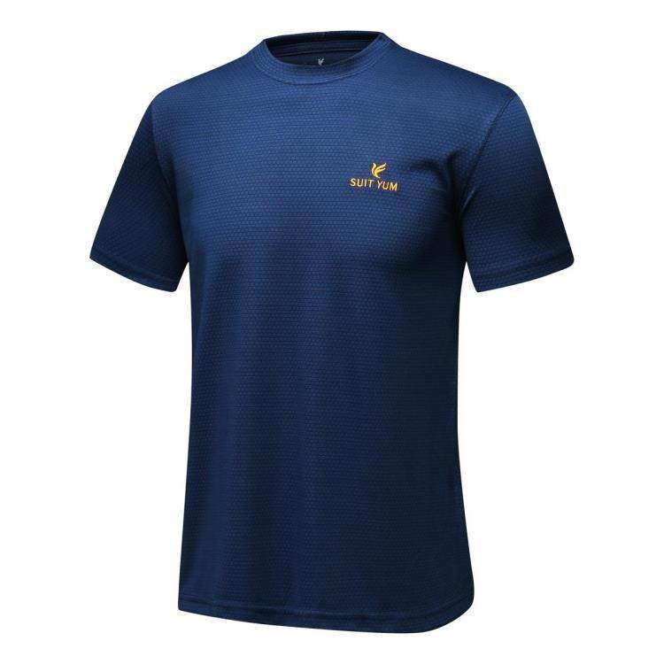 c86586a8 China. Men's Sports Quick Dry Short Sleeve T-Shirt (Dark blue color)