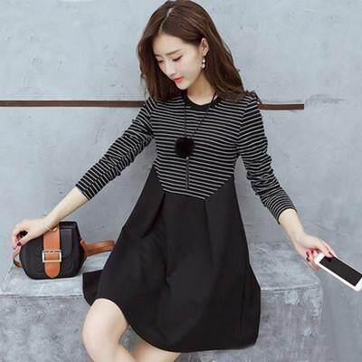 963900254 2018 large size pregnant dress women's fashion dress A skirt dress