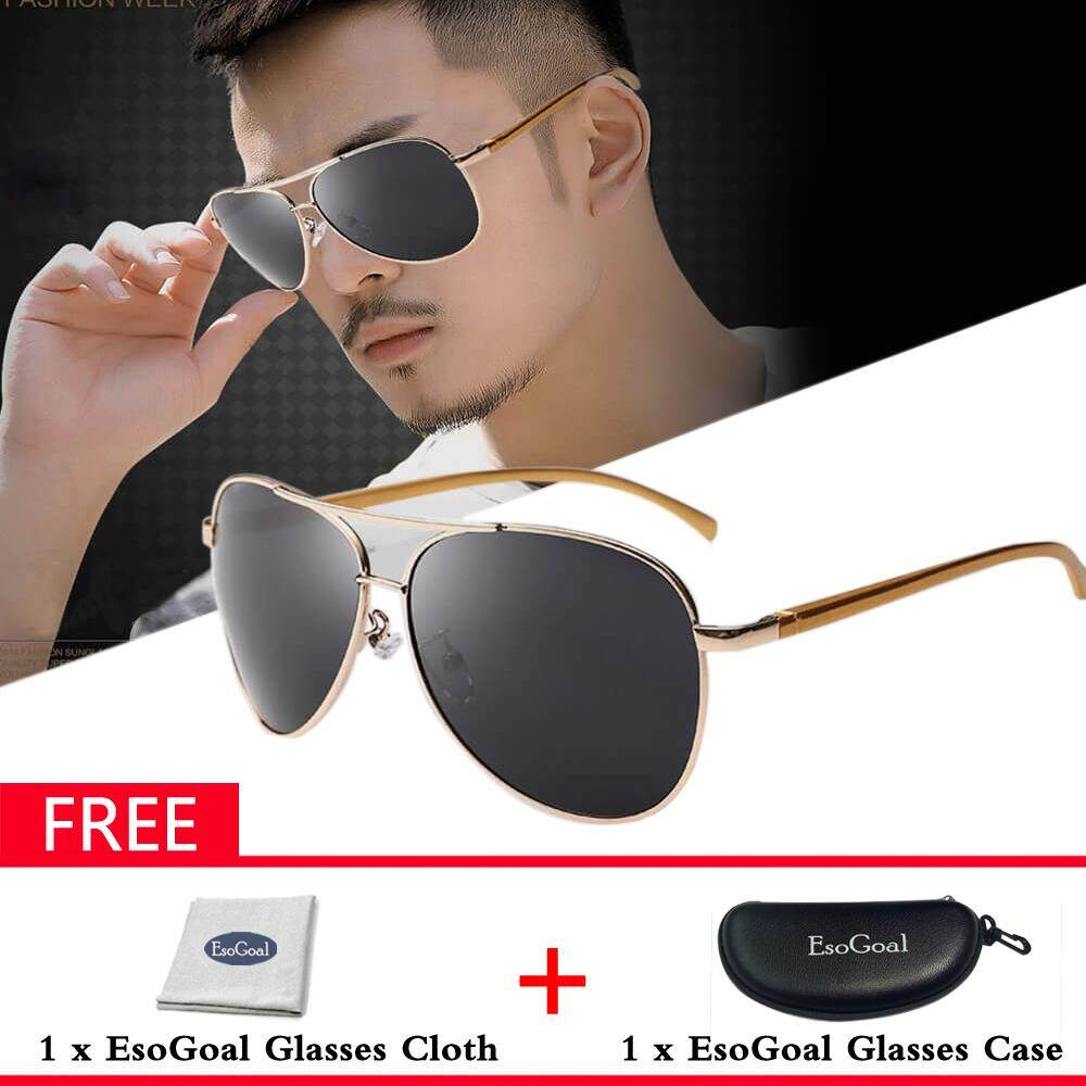 3df9f15699 EsoGoal Aviator Polarized Sunglasses for Mens Mirrored Sun Glasses Shades  with Uv400 - intl