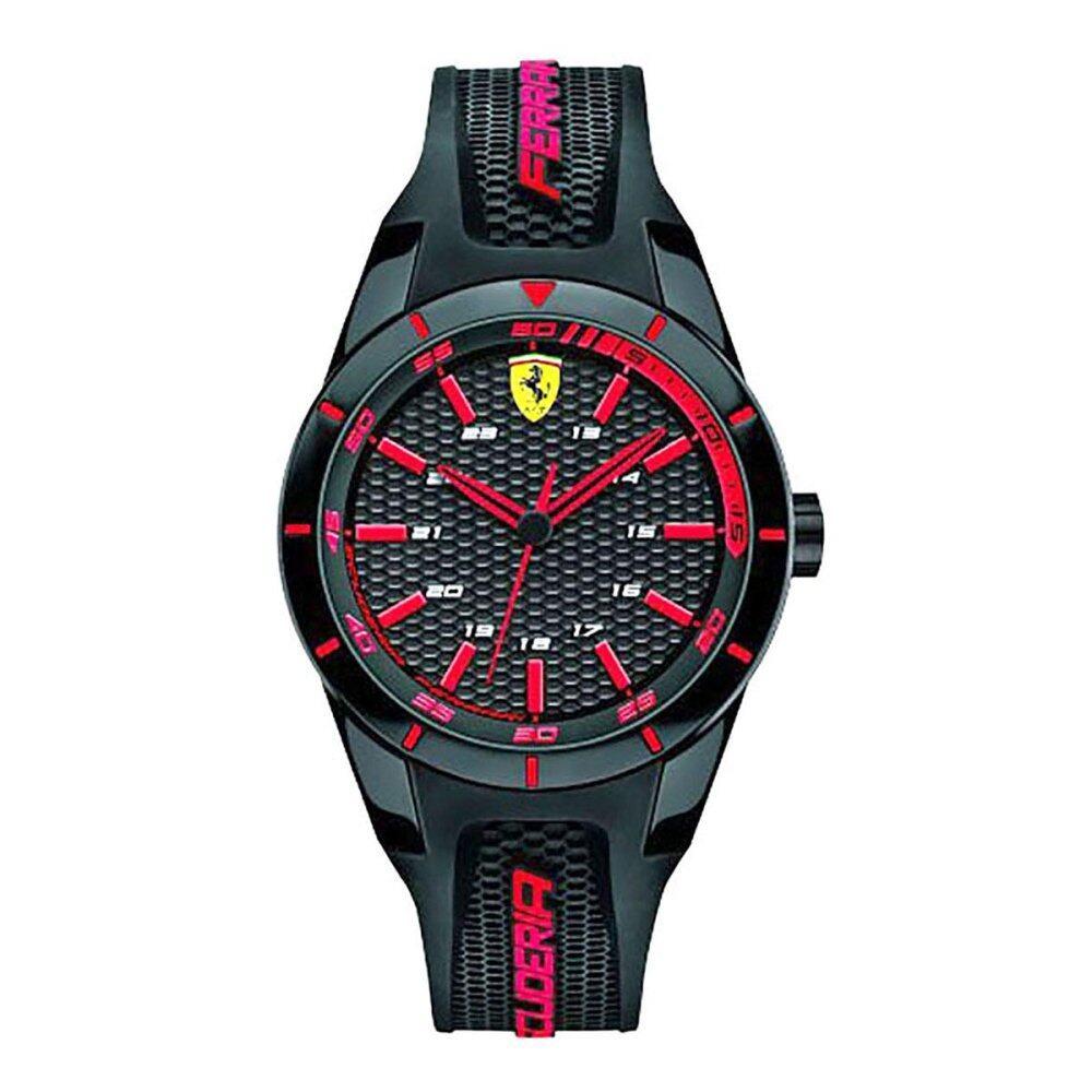 ราคา Ferrari Ferrari Redrev Black Plastic Case Rubber Strap Mens 0840004 ใน ฮ่องกง