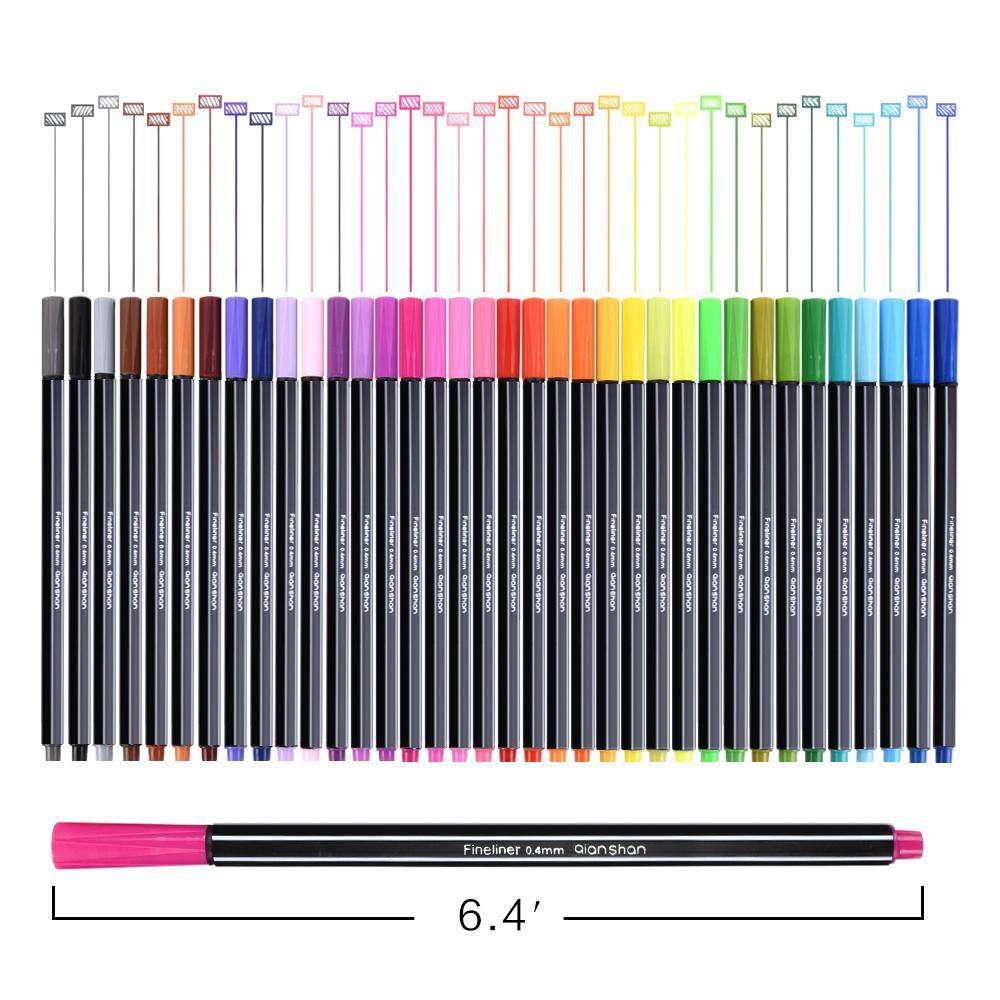 36colors Fine Liner Pen Set Micron Sketch Marker Colored 0.4mm Coloring For Manga Art School Needle Drawing Sketch Marker Comics - Intl By Kerno Store.