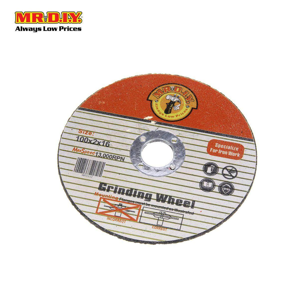 MR DIY Grinding Wheel 100 x 2 x 16 mm