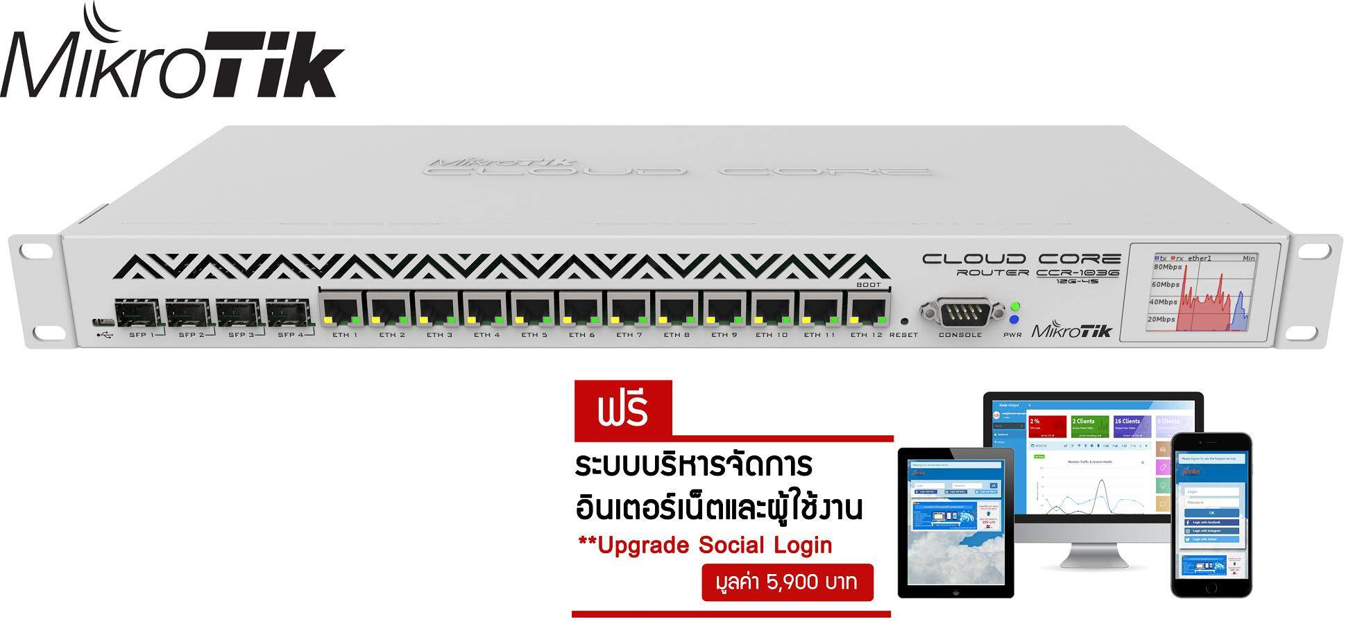 Sell Mikrotik Router Board Cheapest Best Quality Th Store Cloud Core 1036 12g 4s Thb 37900 Ccr1036