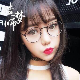 Beli sekarang Retro Sastra Logam bingkai kacamata wanita Gaya Korea pasang  Gaya Harajuku pria bingkai lengkap Bingkai Kacamata Bundar Bisa dipadukan  ... 8f9e66188f