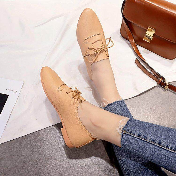 8d2f7a37890353 Online Celebrity Shoe women Spring And Autumn New Style Korean Style  Students Pointed Flat Small Leather