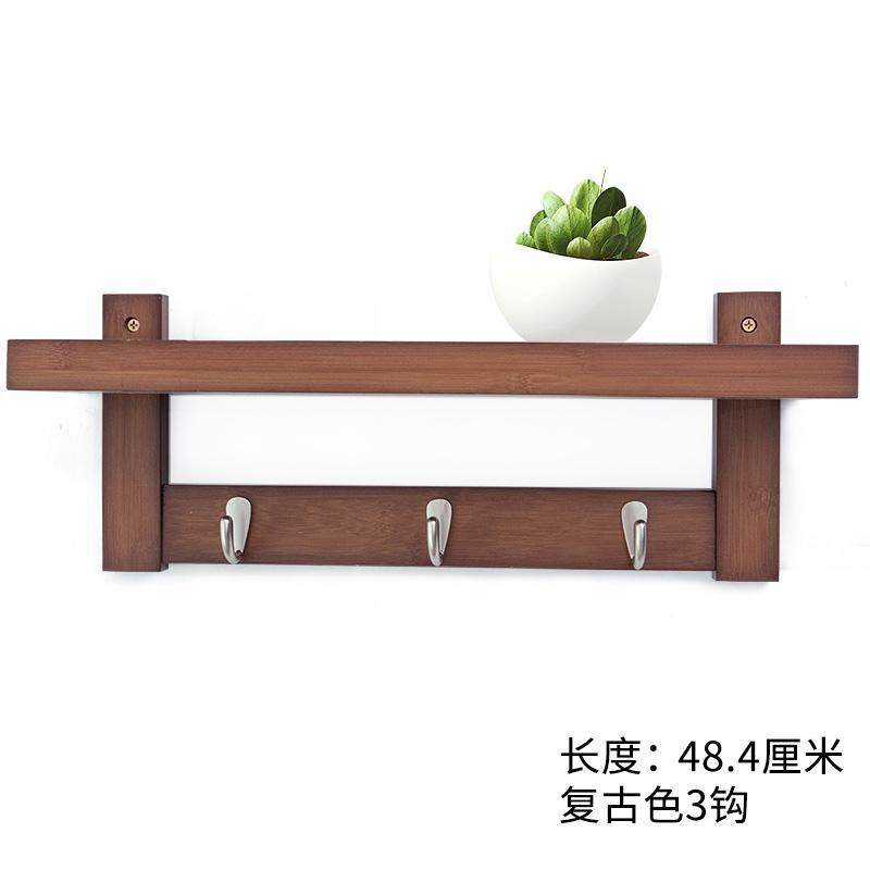 Northern Europe Wall Hook Creative Solid Wood Clothes Rack Wall Bedroom Hallstand Wall Hangers Clothes Hook Living Room Storage Shelf