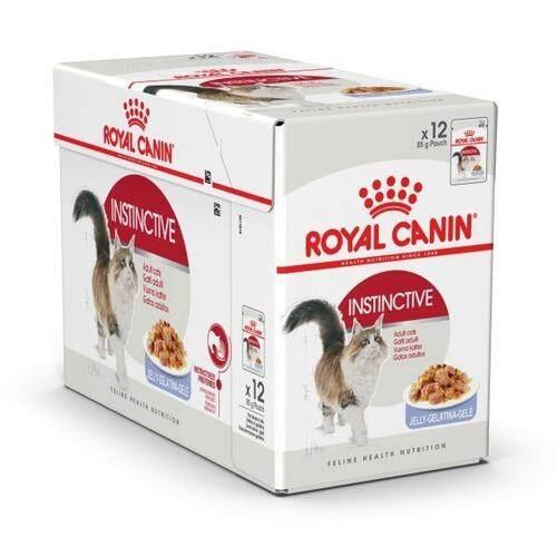 Royal Canin Instinctive in Jelly x 12 Pouches โรยัลคานิน อาหารเปียกแบบซอง สำหรับแมวโต อายุ 1ปีขึ้นไป (12 ซอง)