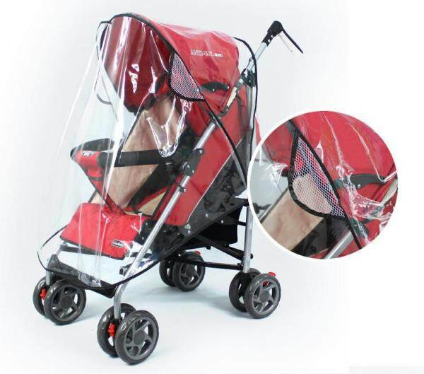 Universal Rain Wind Weather Cover Shield Fit Most Jogger Strollers Pushchairs Stroller Cover for Baby Kids Singapore