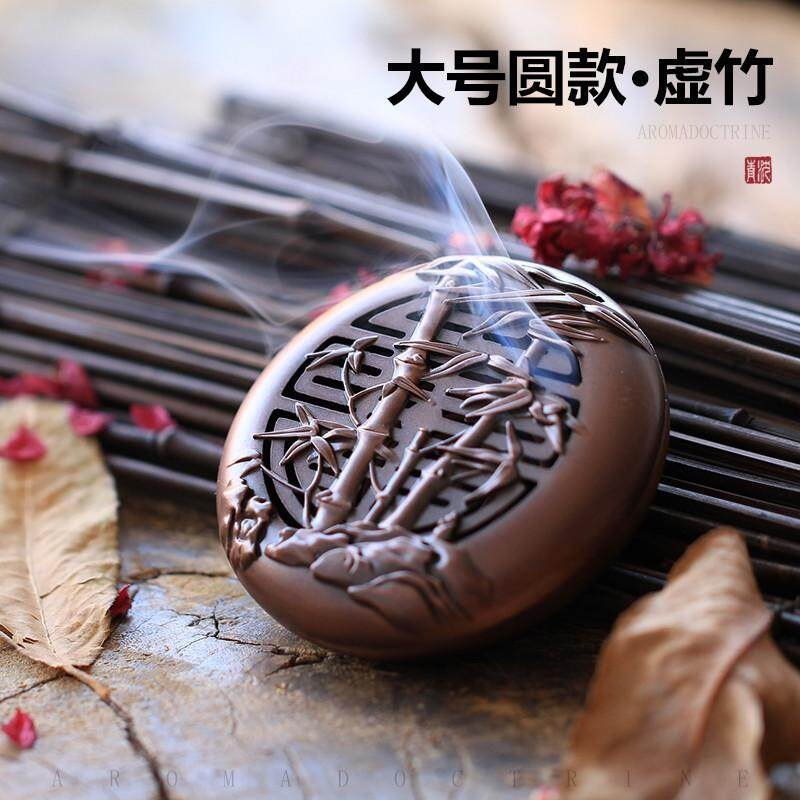 Copper Alloy Hollow out Vintage Mini Sandalwood Censer Tea Ceremony Taoist Incense Utensils Household Car Mounted Burn Incense Box Incense Coil Chinese Eaglewood Furnace