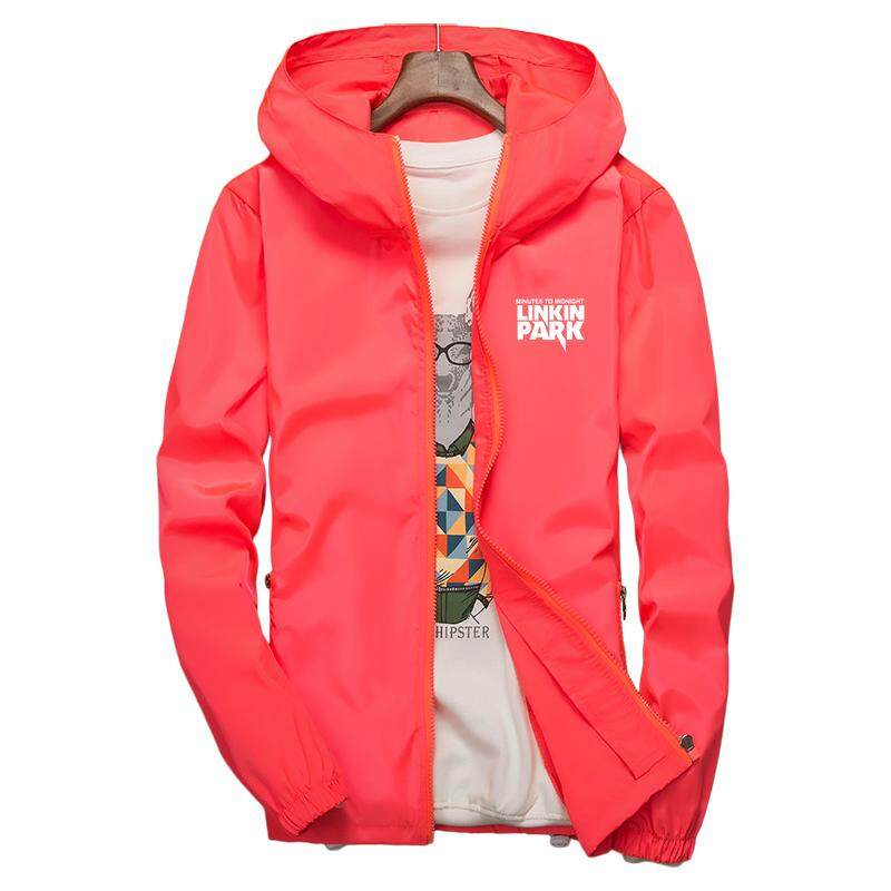 Musim Panas Pemuda Pakaian Plus Pupuk Jaket XL Lemak Longgar Pakaian Olahraga Mantel Tipis Siswa Matahari
