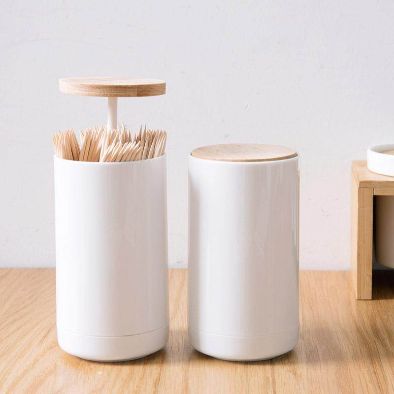 Ju La Casa Push Toothpick Holder Portable Toothpick Holder Creative Simple Plastic Swab Box Home Living Room Toothpick Box By Taobao Collection.