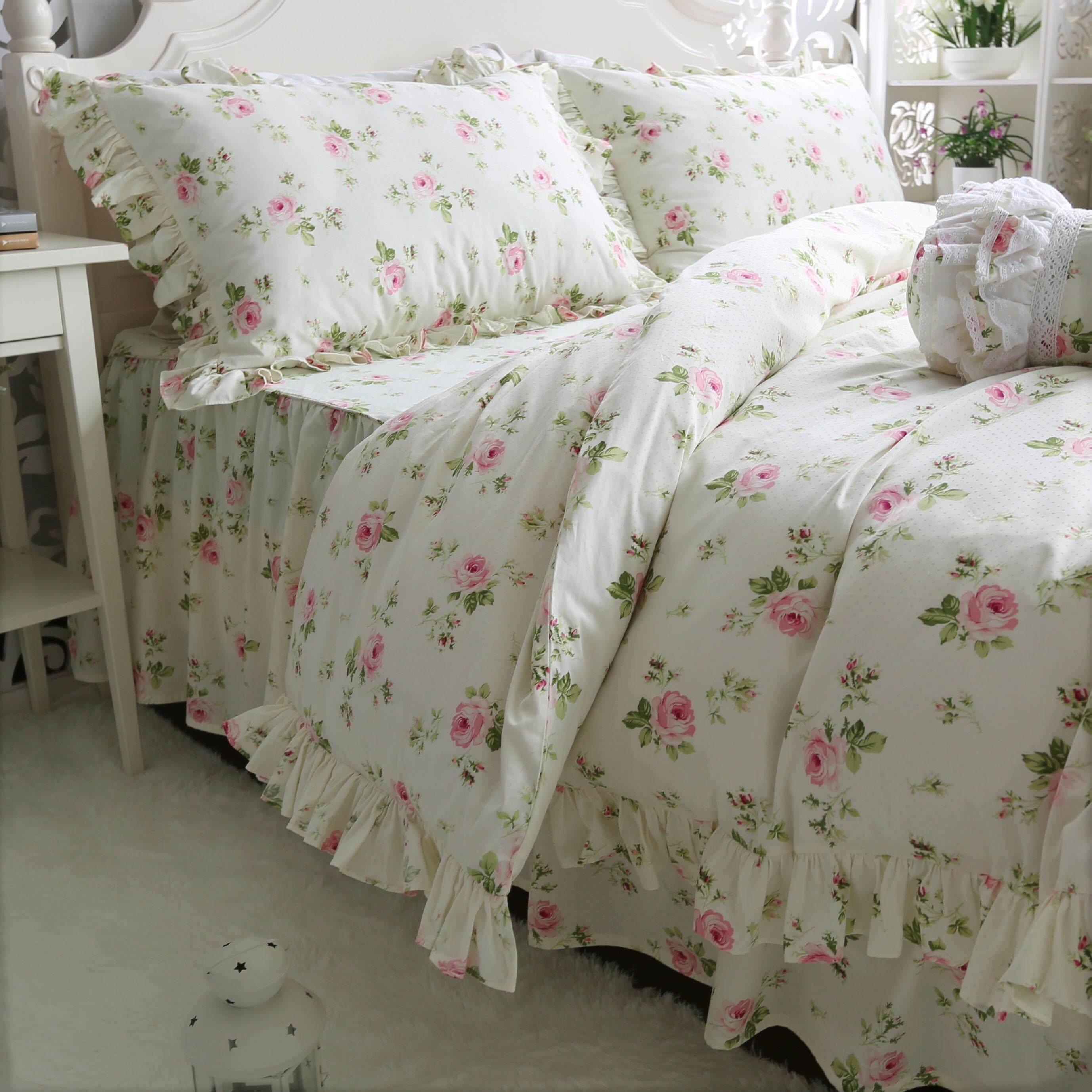 ... Anak Gadis Fashion 3 Set Pakaian-. Source · 4Pcs/Set Katun Murni Twill Sarung Selimut Tumbuhan Bunga-bungaan