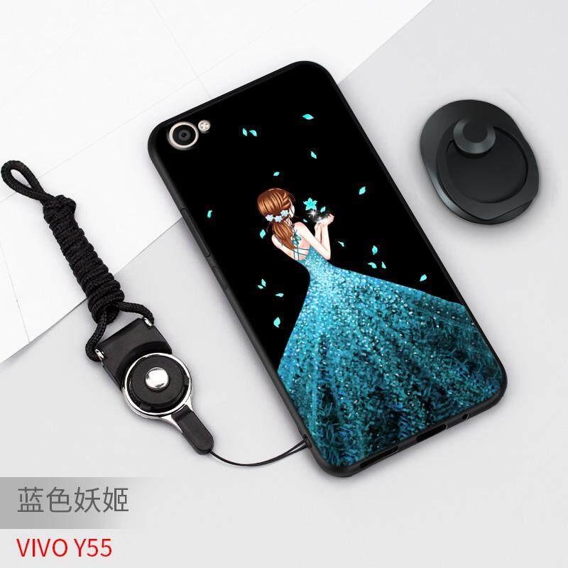 Vivo Y55 Casing HP vivo y55a Sarung HP Silikon lunak anti jatuh Kartun Casing Y55L Chasing