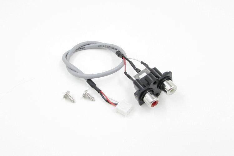 3 Pcs Soket Audio Kursi Teratai Dua Saluran Adaptor Audio Kabel 300 Mm dengan Plug-Intl
