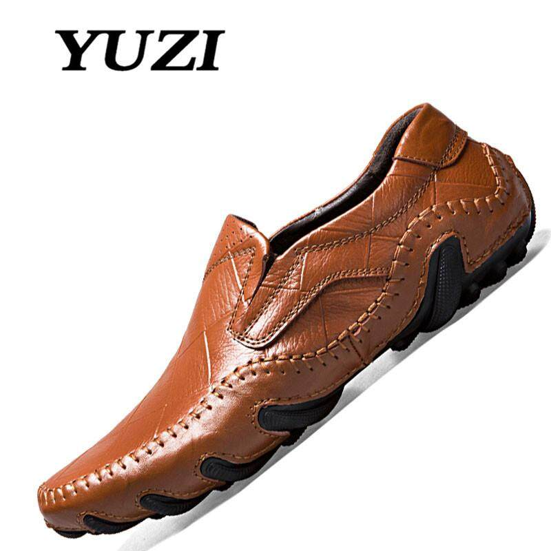 Yuzi Sepatu Kasual Pria, Sepatu Kulit, Sepatu Formal, Sepatu Pria, Sepatu Mengemudi