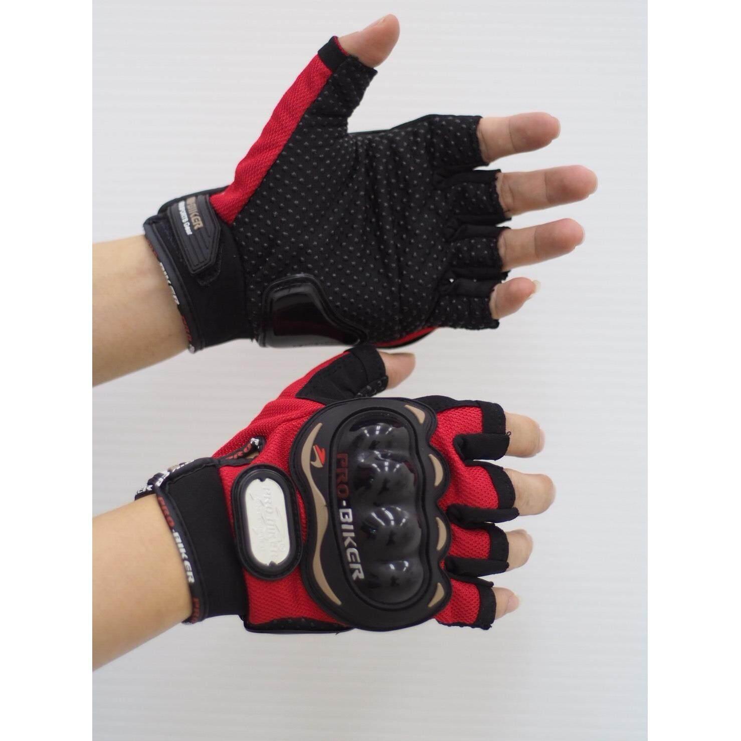 Probiker Mcs-04 ถุงมือครึ่งนิ้ว(สีดำ/แดง/น้ำเงิน) ลิขสิทธิ์แท้100%ถูกที่สุดในโลก.