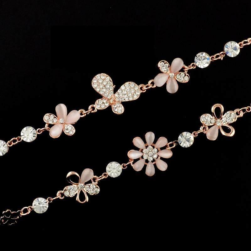 Bao tepi perak gelang perempuan manis Gaya Korea Gelang perak Teman Baik gelang .
