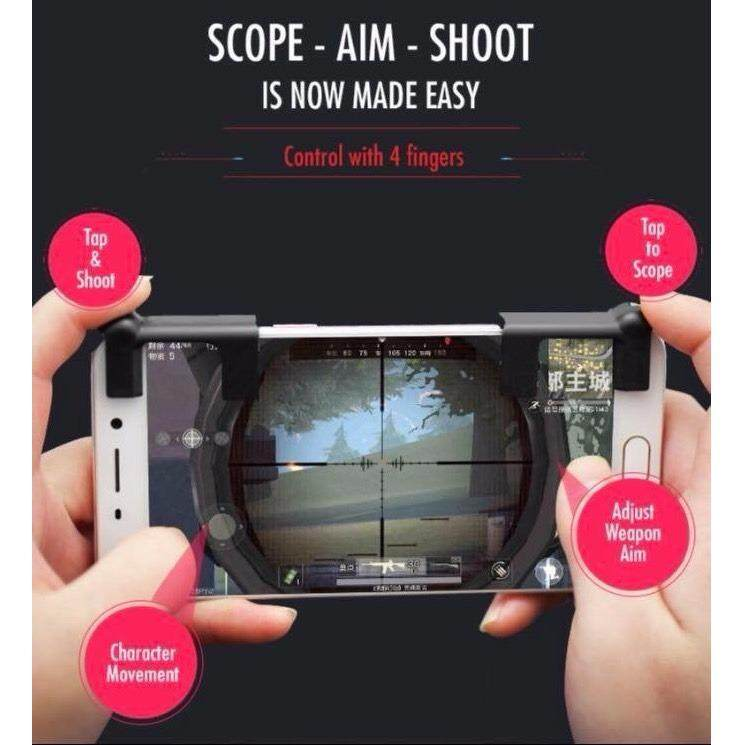 tesia SHOOTING TAP joystick จอยเล่นเกมส์มือถือ (Rules of Survival, PUBG)