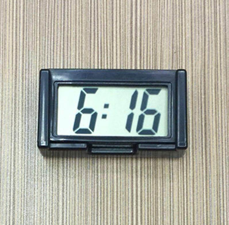 นาฬิกา Lcd ติดในรถ พกพาเดินทาง แสดงเวลา เดือนและวันที่.