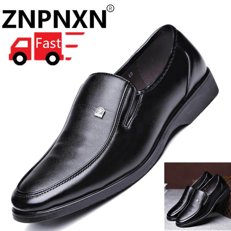 ZNPNXN New Fashion Men Fashion Lace Up Business Casual Leather Shoes Formal  Shoes Kasut Lelaki Kasut b36df53e6ea8
