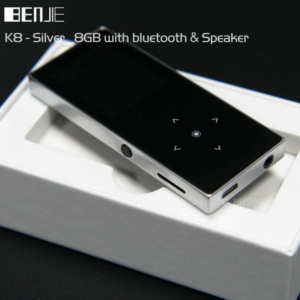 Original BENJIE K8 Bluetooth MP3 player 8GB Sport Mp3 Music Player Recorder FM Radio Support TF