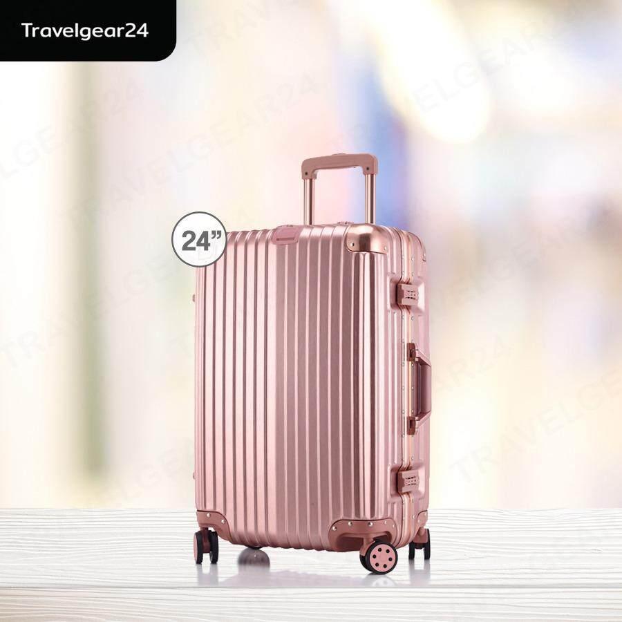 ซื้อ Travelgear24 กระเป๋าเดินทางขนาด 24 นิ้ว โครงอลูมิเนียม อลูมิเนียม วัสดุ Abs Pc Model A2901 ใหม่ล่าสุด