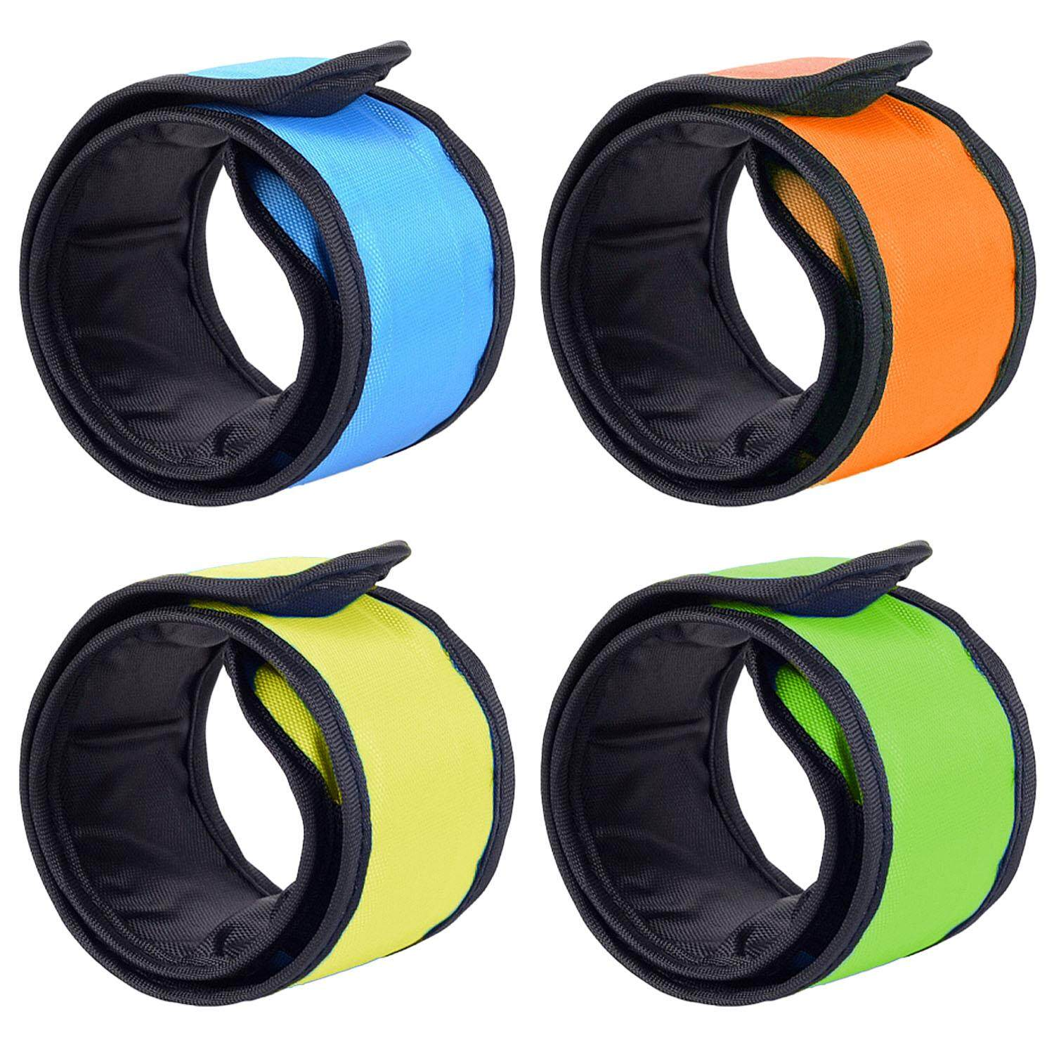 4pcs Led Glow Light Up Band Slap Night Safety Bracelet Wristband For Cycling Jogging Walking Running Concert Camping Outdoor Sports By Duha.