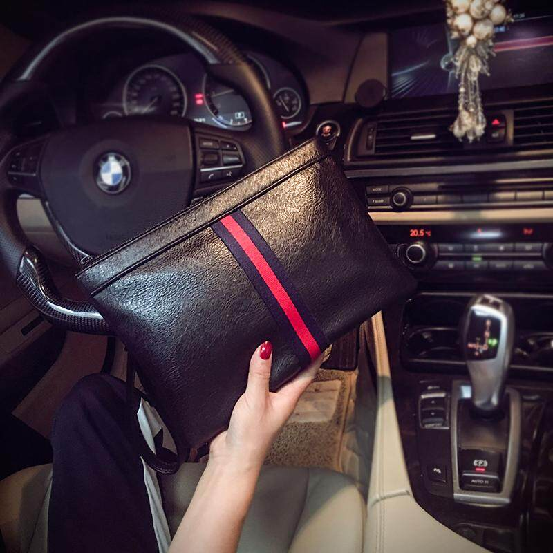 Simple Fashion Korean Style Clutch Trend Fashion And Personality Clutch Bag Men And Women Handbag Envelope Wrist Wrap Fashion