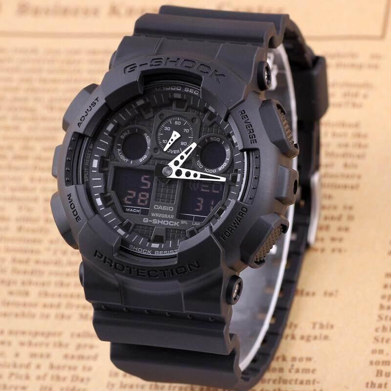 Casio G-Shock นาฬิกาข้อมือ รุ่น Ga-100-1a1dr/ga-110gb-1adr (สีดำ).