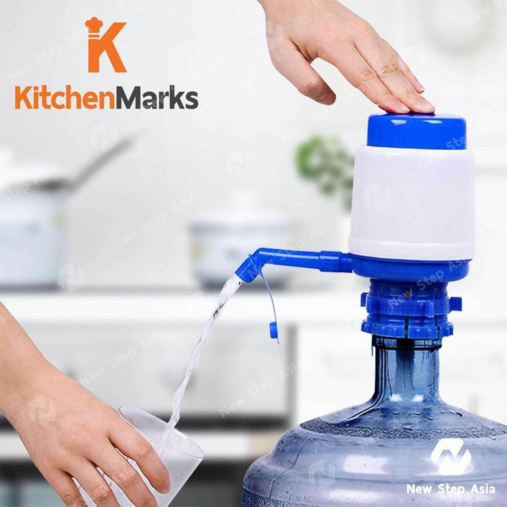 KitchenMarks อุปกรณ์ปั้มน้ำดื่มจากแกลลอน แบบมือกด ที่กดน้ำดื่ม ที่กดน้ำ ปั๊มน้ำ ปั้มน้ำดืม แบบมือกด Pump Manual Drinking Water Pump new step asia