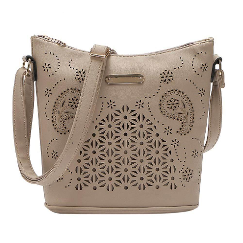 Women Girls Fashion Antiwear PU Satchel Handbag Single Shoulder Oblique Cross Bucket Bag