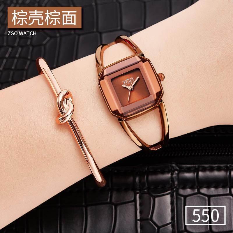 Jam Tangan wanita Tahan Air fashion populer suasana minimalis kompak gelang  berbentuk gelang Bagian Buka Tutup 4455f05513