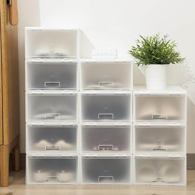 Jepang impor Lebih tebal Sepatu Kotak penyimpanan model buka tutup Kotak  Sepatu SHOEBOX anti debu kotak b7090d7a78