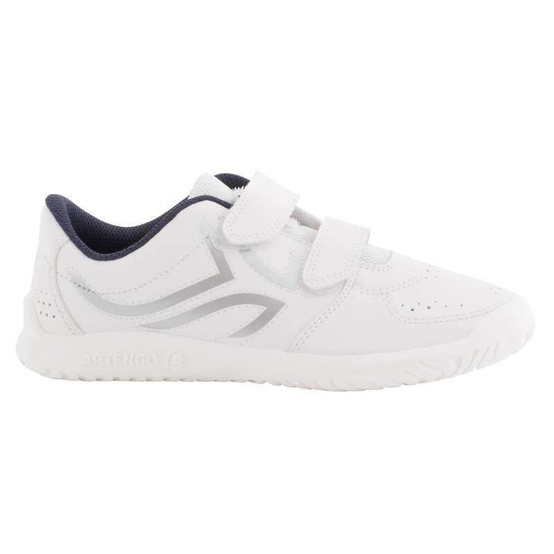 รองเท้าเทนนิสสำหรับเด็กรุ่น Ts100 (สีขาว/ฟ้า).