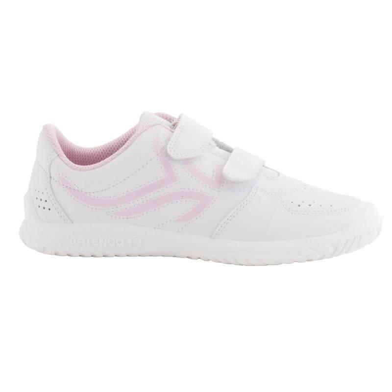 รองเท้าเทนนิสสำหรับเด็กรุ่น Ts100 (สีขาว/ชมพู).