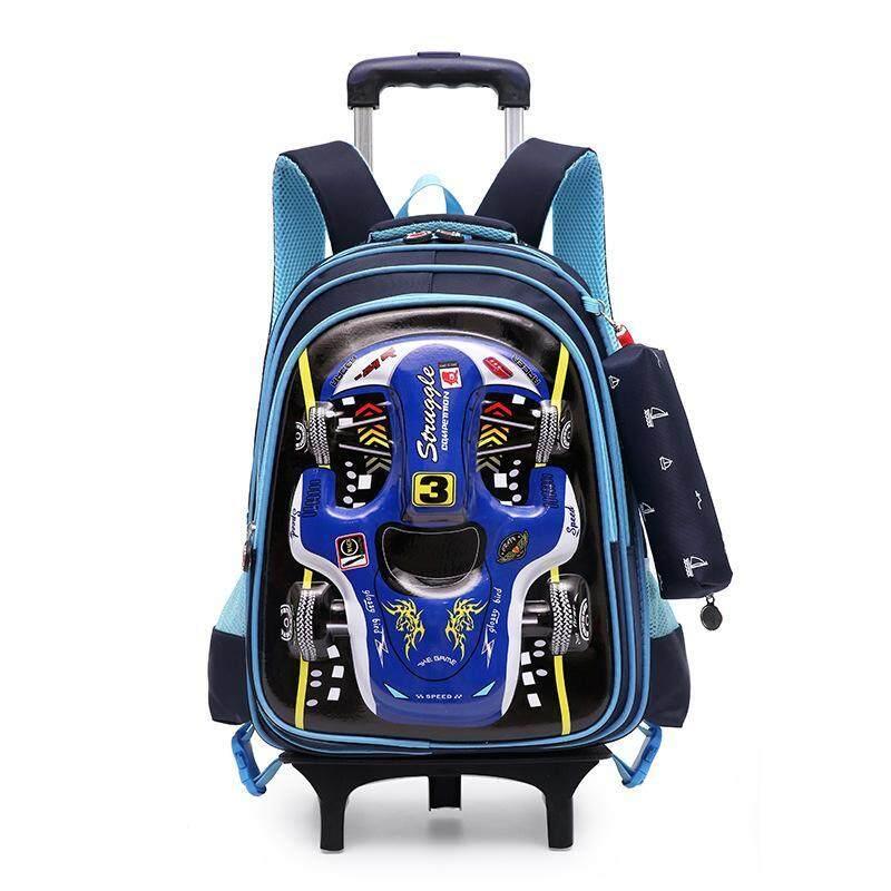 DJ8 Primary School trolley bag Child bag Removable backpack