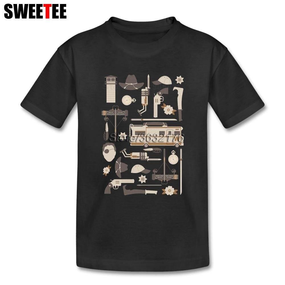 The Walking Dead Putri Senjata T Shirt Murni Baju Lengan Pendek Katun Leher Bulat To Teeter Orang Kaos Bermerk untuk Anak Laki-laki Perempuan-Intl