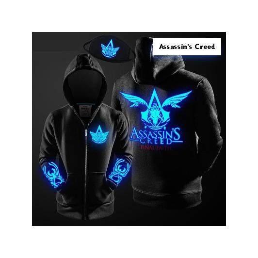 ซื้อ เสื้อฮู้ด Assassin S Creed เรืองแสง Glow In The Dark เสื้อฮูด เสื้อคลุม เสื้อคลุมมีฮูด เสื้อฮูดผู้ชาย เสื้อฮูดผู้หญิง เสื้อฮูดแขนยาว เสื้อกันหนาว เสื้อเรืองแสง ออนไลน์