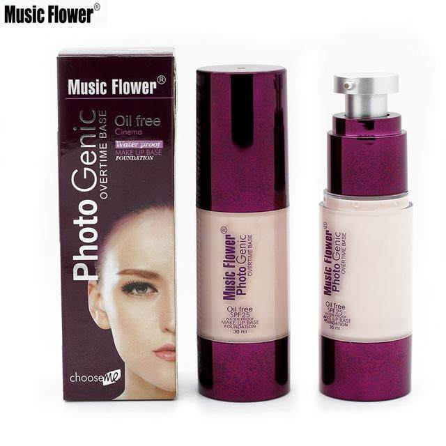 รองพื้นคุมมัน Music Flower Photogenic Overtime Foundation Oil Free Spf 25 (30ml.).
