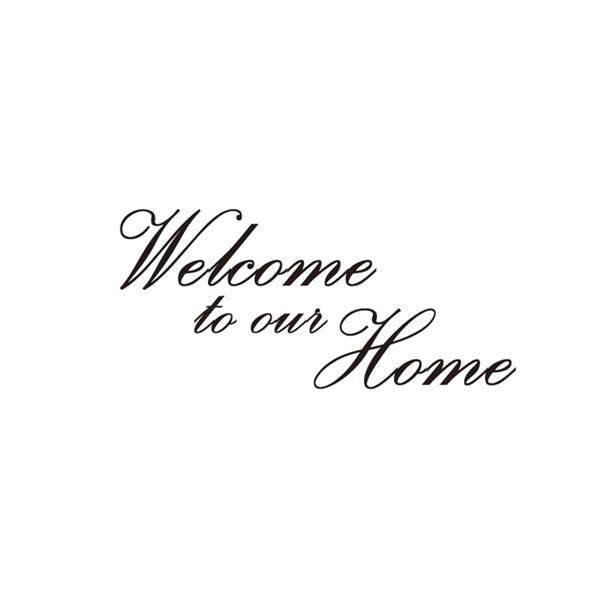 Selamat Datang Di Rumah Huruf Dinding Vinil Dapat Dilepas Kutipan Decal Dekorasi Rumah PVC Stiker Dinding
