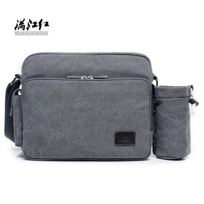 Gaya Korea Dari Ledakan Model Messenger Tas Multi-fungsi Tas Pria (Abu-abu