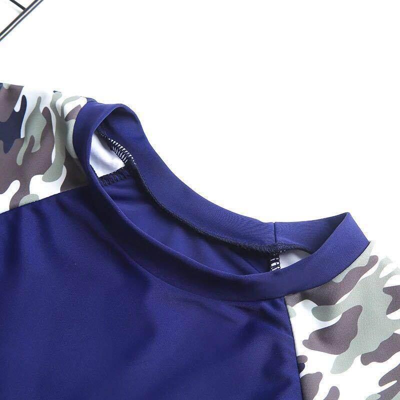 ... Ukuran Besar Anak Laki-laki Baju Renang Split Kamuflase Pakaian Renang Tabir Surya Baju Renang ...