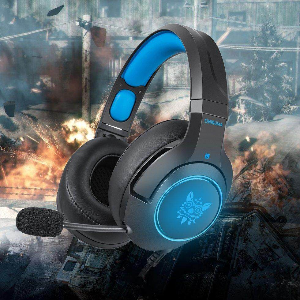Onikuma K9 Anti-Noise Super Bass Headphones Game Headset With Microphone