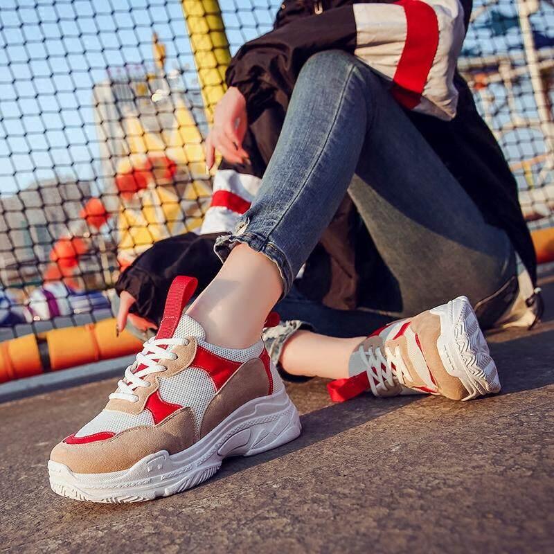 ... Sepatu olahraga wanita Gaya Korea ulzzang Harajuku netral sepatu  lapisan tunggal modis sepatu wanita 2018 model ... b5eded290a