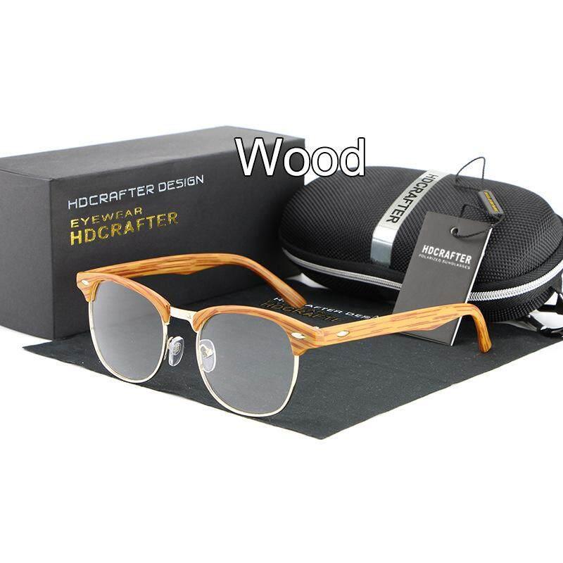 Hdcrafter Merek Modis Kacamata Retro Uniseks Logam Setengah Bingkai Cermin Pesawat Aksesoris Kacamata Kacamata Espelho Plano