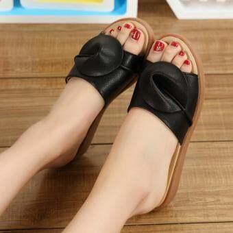 Beli sekarang 2018 musim panas Kulit asli Bawah Tendon perempuan sandal  pakaian luar musim panas ibu hamil sol datar sandal Sepatu kulit teplek  Mama ukuran ... 850896f77a