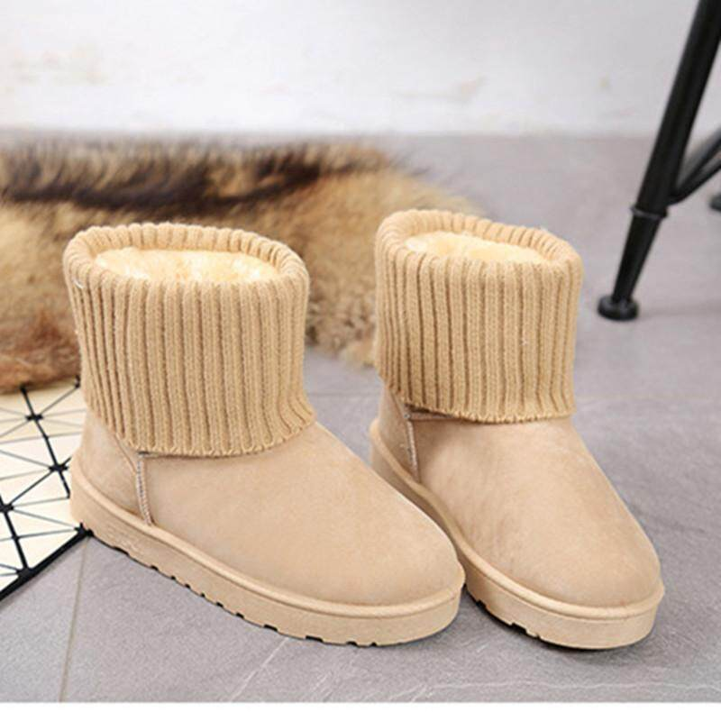 Cotton-padded Shoes women Winter plus Velvet Warm Anti-slip Short Boots 2018 Winter