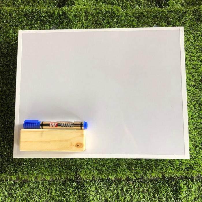 กระดานไวท์บอร์ดแขวนผนัง  ไร้ขอบขนาด 38x28 Cm.