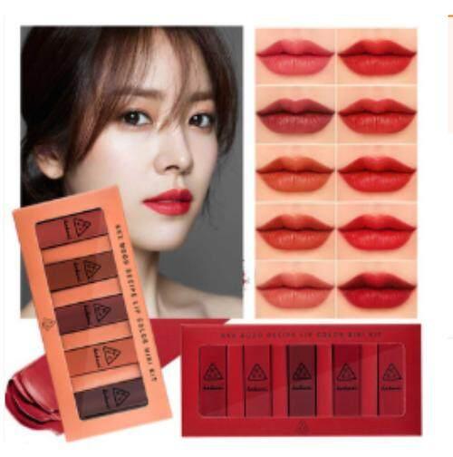 mood recipe lip color mini kit ใน 1 เซท มี 5 สี 2 set ( 10 สี ).