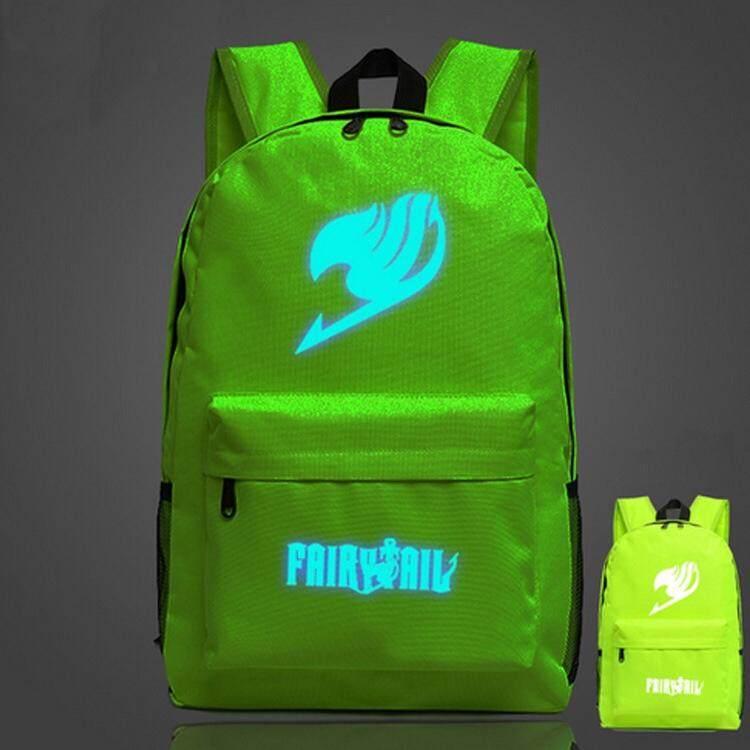 Fairy tail Backpack cartoon School bag Shoulder black Bags Travel Backpack